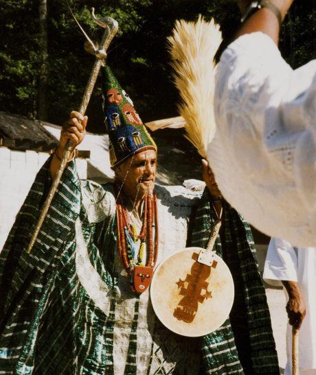 King Adefunmi I, Founder of oyotunji Village Emerges.