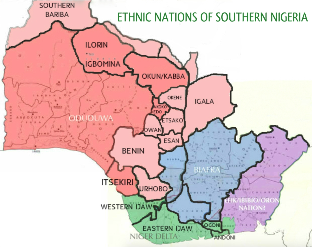 Natural ethnic fault lines of Southern Nigeria